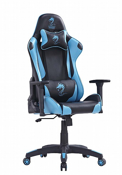 מדהים כיסא גיימרים Dragon Ceaser שחור / אפור עם כריות במחיר הכי זול בארץ AJ-67